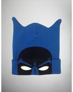 Blue Cuff Batman Beanie - Spencer's