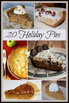 20 Holiday Pies - perfect pies for Christmas dinner