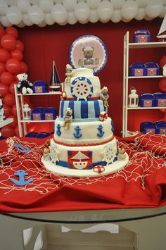 "Photo 2 of 11: Sailor Bear / Birthday ""Ian First Birthday"" | Catch My Party"