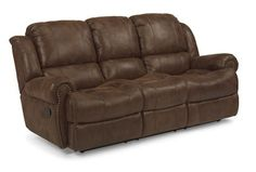 "Flexsteel Outlet | Capitol Double Reclining Sofa Model N7311-62 41""H x 85""W x 40""D"