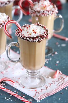 christmas drinks Boozy Peppermint Mocha Coffee recipe is great with alcohol or without! A wonderful drink for the Christmas and holiday season. Christmas Cocktails, Holiday Drinks, Christmas Desserts, Christmas Treats, Fun Drinks, Yummy Drinks, Holiday Recipes, Christmas Martini, Christmas Foods