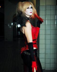 """Waiting For you Mr J....."" Pic by @westphal_fotografie Costume by me #cosplay #girl #germany #pigtails #blonde #harleyquinn #harleyquinncosplay #harleyquinnmakeup #arkhamcity #harleyquinnarkhamcity #arkhamcityharleyquinn #redlips #redandblack #makeup #dc #dccomics #game #drharleenquinnzel #harleenquinzel #sexycosplay #gamecosplay #nerd #sexy #sexycosplay #psycho #littlepsycho #dcvillain #blueeyes #makeup #photography #photoshoot #cosmodel #wednesday #gotham #arkham #asylum"