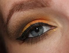Citrus orange with gold and brown shadow