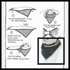My dimensions are a triangle 135 cm long and 45 cm high (the point is at 40 . Sewing Hacks, Sewing Crafts, Sewing Projects, Sewing Clothes, Diy Clothes, Sewing Scarves, Knitted Scarves, Creation Couture, Neck Scarves