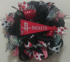 Houston Rockets wreath. by CooCooCrafter on Etsy, $20.00