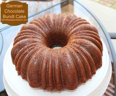 Michelle's Tasty Creations: German Chocolate Bundt Cake - with icing baked inside the cake!