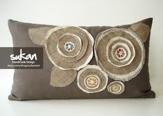 Sukan / Flowers Pillow Cover - 12x20. $65.95, via Etsy.
