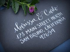 Hand Calligraphy Envelope Addressing - Style: Main Street Promenade (mixed)