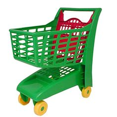 Toy Shopping Cart - Asst Colors -- Find out more details… Pretend Grocery Store, Baby Dolls For Kids, Cardboard Car, American Girl Accessories, Flower Girl Shoes, Play Money, Shops, Baby Development, Pretend Play