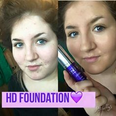 Before and after using High definition Foundation. Email me for more information at mcmillan46@gmail.com