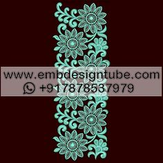 Stitches / Points 15623 Thread Colors 1 Height 112 mm Verified / Tested Yes Design Type Flat Embroidery Design Format EMB, DST Head Interval Lace Embroidery, Embroidery Designs, Email Subject Lines, Border Design, Fashion Sewing, Scarf Styles, Stitches, Type, Patterns