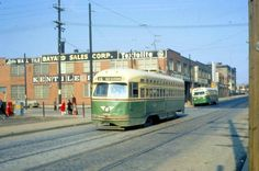 PCC CAR AND OLD LOOK GMC ON RICHMOND ST. PHILA. LATE 60S