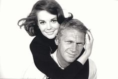 William Claxton - Steve McQueen with Natalie Wood, Backlot, Paramount Studio, 1962