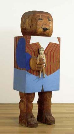 Marisol Escobar - Baby Boy sculpture.
