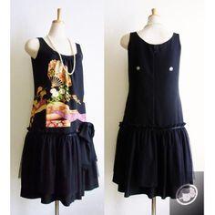 "A dress made of KIMONO fabric by ""Kawaii ULALA""♥   http://ulala-sisters.shop-pro.jp/"