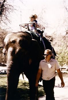 When I was a kid.. I rode an Elephant and a Camel at the Hogle Zoo in Utah riding an elephant by Sam Scholes, via Flickr