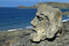 Bretagne, Rothéneuf, rochers sculptés
