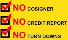 No Credit No Cosigner Car Loans