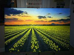 """Skagit Valley"" (22"" by 30"" acrylic on canvas, mixed media)"