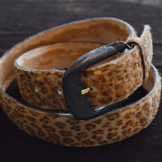 Pony Hair Leopard Belt – Born A Bad Seed™