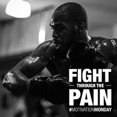 """""""Fight Through The Pain"""" motivational poster w/ champ Jon Bones Jones : if you love #MMA, you will love the #MixedMartialArts and #UFC inspired gear at CageCult: http://cagecult.com/mma"""