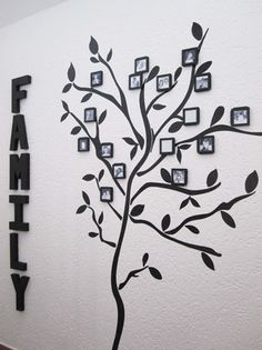 "Here's the ""how-to"" for making your own family tree with wall decals and frames. Much <3 to Jaime for helping us write it!"