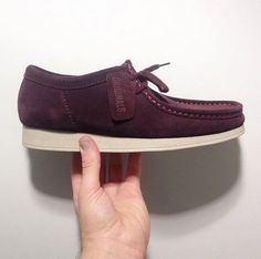 The Clarks Originals burgundy Wallabee Aerial shoes. They're classic for a reason. c/o @mntsprngs
