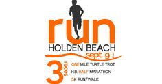 """Join us for the 4thannual Run Holden Beach Half Marathon, 5K and 1 Mile Turtle Trot to be held September 9th, 2017. The breath taking views from the heights of the Holden Beach Bridge makes this half marathon a must do and is complete with a 5K run/walk and a 1 mile turtle trot so bring the whole family! This is the third race in our """"2017 Big Ass Medal Series"""", complete all 4 to earn the worlds largest race series medal! Bam! - You won't want to miss it!!"""