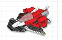 Lego building steps printables, like Space Scout Craft Steps