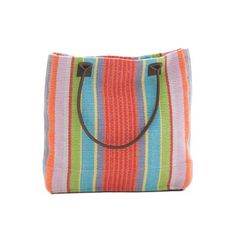 Dash & Albert Garden Stripe Woven Cotton Tote Bag Our carryall rug bag has a woven construction and is hand-loomed in durable cotton. With a generous capacity x x and genuine leather handles and bottom, this tote is both practical and fashionable. Dash And Albert, Cotton Tote Bags, Bag Sale, Leather Handle, A Team, Coin Purse, Purses, Woven Cotton, Construction