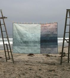 Hand-dyed Fracture Quilt by First Shelter on Shoppe by Scoutmob