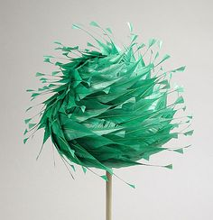 A whimsical 1965 hat with beautiful feather work, Saks Fifth Avenue.