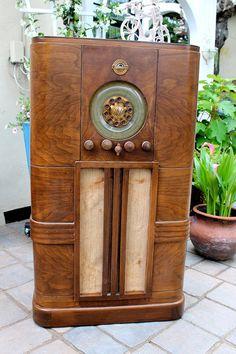 Antique Radio  Vintage  Ward's Airline Radio  by honeystreasures, $750.00