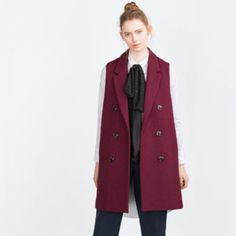Double breasted waist coat Worn once! Zara Jackets & Coats Vests