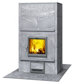 TLU2000/94 - Tulikivi Soapstone fire place. Heats after the fire dies out for another 12-24 hours. This model has an oven on the back. It is to be used as a room divider in a kitchen/ living room area. http://www.tulikivi.com/usa-can/products/TLU2000_94