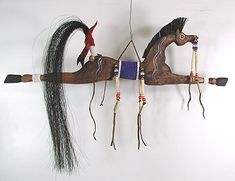 Lakota Spirit Horse  Dance Stick-  When a warrior lost a horse, he would honor the horse by making a horse stick.
