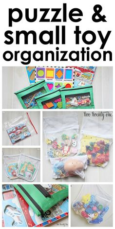 Great puzzle and small toy organization tips! organization Toy Organizer I Toy Rooms Great Organization organizer Puzzle Small Tips Toy Toys Puzzle Storage, Kids Storage, Smart Storage, Toy Storage, Storage Hacks, Storage Ideas, Storage Solutions, Toy Room Organization, Organizing Toys