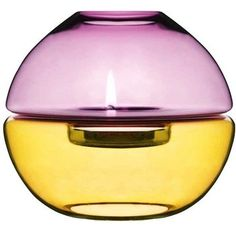 glass globe tealight holders from A+R. what a find:) Purple Yellow, Purple Gold, Sweden, Ceramic Tableware, Glass Globe, Happy Colors, Tea Light Holder, Violet, Interior Design Inspiration