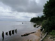 whitefish bay at the mouth of the tahquamenon river, upper peninsula