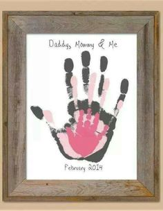Mommy Daddy me handprint picture