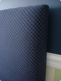 Make a headboard using egg foam instead of expensive padding at fabric stores