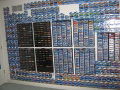 what i fear my room will look like Hot Wheels Collection Display Hot Wheels Storage, Hot Wheels Display, Matchbox Car Storage, Matchbox Cars, Custom Hot Wheels, Hot Wheels Cars, Geek Room, Toy Rooms, Displaying Collections