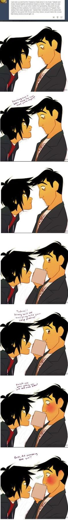 Couldn't read the text clearly but Tadashi and Hiro are so cute in the comic Big Hero 6, Disney And Dreamworks, Disney Pixar, Disney Bound, Disney Magic, Disney Art, Tadashi Hamada, Cute Disney, Funny Disney