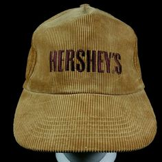 Unisex Vintage Brown Corduroy Hershey's Candy Milk Chocolate Baseball Hat Cap | Clothing, Shoes & Accessories, Vintage, Vintage Accessories | eBay!