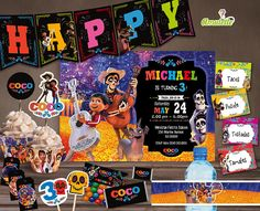disney coco birthday party printable kit Coco birthday