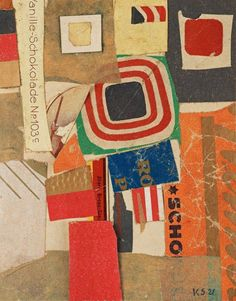 KURT SCHWITTERS, Untitled (Vanlilla Chocolate No Signed KS and dated Collage, paper mounted on paper.The collage with the beginning of cubism. Kurt Schwitters, Love Collage, Mixed Media Collage, Collage Art, Dada Collage, Photomontage, Collages, Modern Art, Contemporary Art
