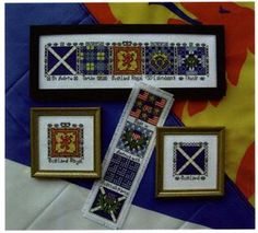 What a versatile pattern - Scottish Quilt Blocks - Lion Rampant, Luckenbooth, Thistle, Saltyre Flag and even a Scottish American Bookmark! Cross Stich Patterns Free, Scottish Symbols, Scotland National Flower, St Andrews Cross, Celtic Crafts, Cross Quilt, Tiny Gifts, How To Make Bookmarks, Traditional Quilts