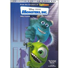 Monsters, Inc. is a 2001 American computer-animated comedy film directed by Pete Docter, produced by Pixar Animation Studios, and released by Walt Disney Pictures. Film Pixar, Pixar Movies, Kid Movies, Cartoon Movies, Great Movies, Children Movies, Animation Movies, Scary Movies, Disney Films