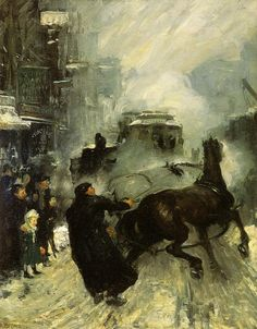 Steaming Streets - George Bellows, 1908