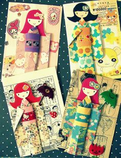 japanese paper dolls by hari hara, via Flickr